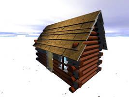 Snowy lodge by jaryth000