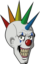 Clown by dinosaurcol