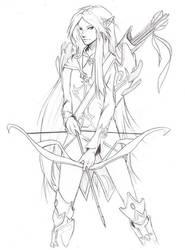 Elf - Lineart by saitsuharu