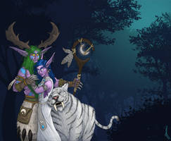 Malfurion and Tyrande by DuszanB