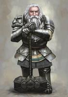 Old Dwarven Paladin by Seraph777