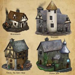 Algadon Buildings (1) by Seraph777