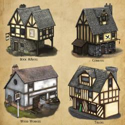 Algadon Buildings (3) by Seraph777