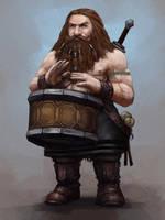 Dwarven Bard by Seraph777