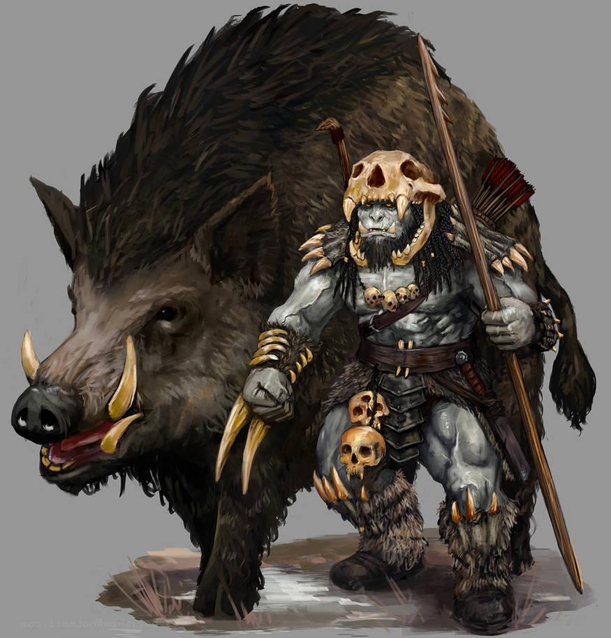 Rakkvosh and Warthog by Seraph777
