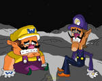 Wario and Waluigi Trapped on the Moon by sergi1995