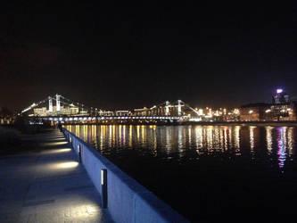 Krymsky bridge in Moscow by Ritter-draws