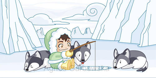 Little Ice Fisher by AgnesGarbowska