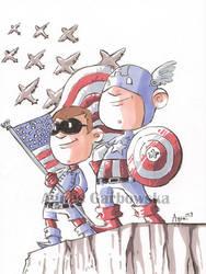 Captain America and Bucky by AgnesGarbowska