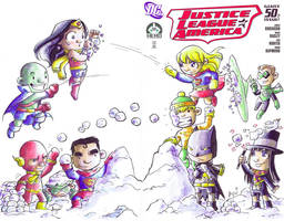 JLA Hero Initiative Cover by AgnesGarbowska