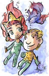 Mera and Aquaman by AgnesGarbowska