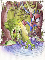 SpiderMan ManThing by AgnesGarbowska