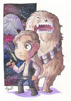 Han Solo and Chewbacca by AgnesGarbowska