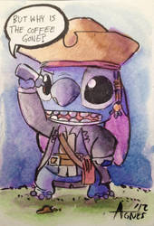 Stitch Jack Sparrow by AgnesGarbowska