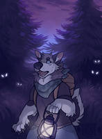 finished ych - punkou by ForestFright