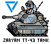 Zaryan TT-43 Tank pixeled by CarrionTrooper