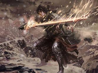 a warrior by mingrutu