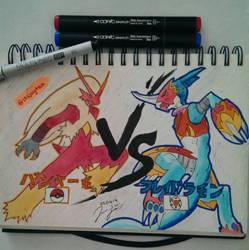 Blaziken vs. Flamedramon who will win? by eyitzjaytea