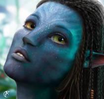 My friend's Na'Vi Avatar by Anilator