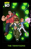 Ben 10 pin-up: The Tennysons by JazylH