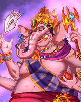 Ganesha- The God of Wisdom by JazylH