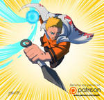 7th Hokage in action by JazylH