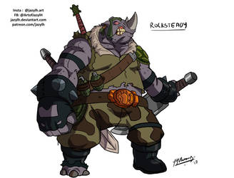 TMNT Redesigns - Rocksteady by JazylH