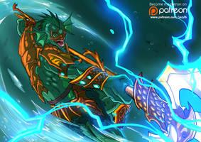 Savage Mer-man : Anime Style Masters by JazylH