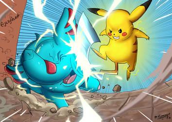 Pikachu use IronTail by JazylH
