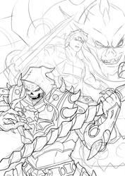 MOTU Battle Armors WIP by JazylH