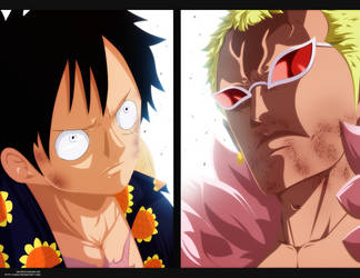 Luffy VS Doflamingo by i-SANx