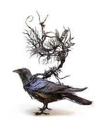 Corvid III - original handmade OOAK art sculpt by creaturesfromel