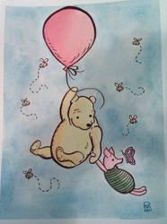Pooh and Piglet by numberoneblind