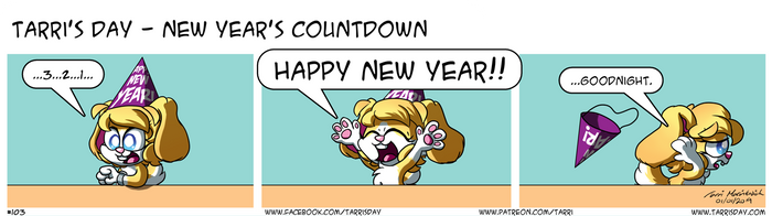 Tarri's Day - New Year's Countdown by TarriPup