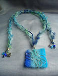 My Blue Heart Necklace by Sumosami
