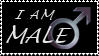 I Am Male stamp by wyldraven