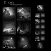 Dracula album art project by wyldraven