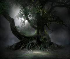 Spooky Tree Stock by wyldraven