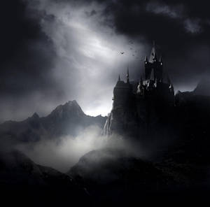Dark Gothic Castle Stock by wyldraven