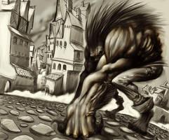 werewolf by Okoolarniq
