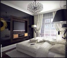 Bedroom interior, view 2 by doubleagent2005