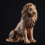 Lion 3d-print Sculpture by doubleagent2005
