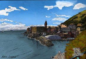 Nervi, Italia by ChemaIllustration