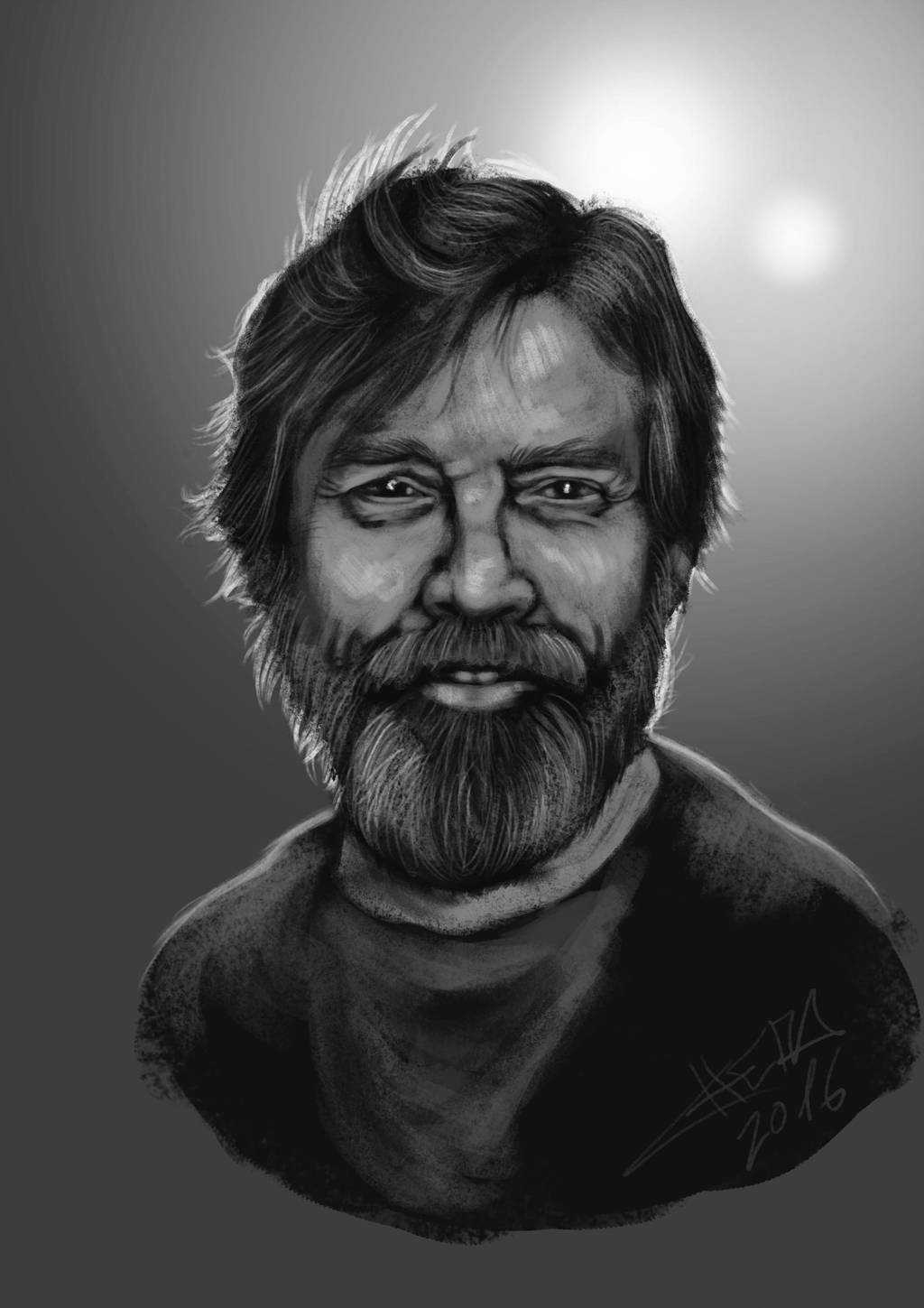 Mark Hamill - Fast Paint by ChemaIllustration