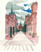 Cloudy streets by ChemaIllustration