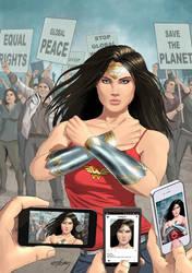 Mary Sinatsaki as Wonder Woman by Estebanned