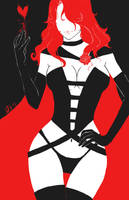 Jean Grey (Phoenix) as Dark Queen by Angrypanda-Gin