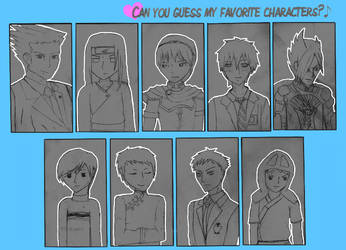 Favourite Male Characters by maiks-heart
