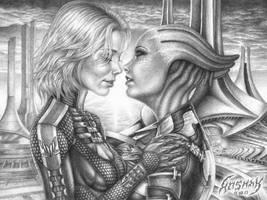 Kiss on Thessia by KoshaKN7