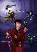 Bond Style Lupin III poster by botmaster2005